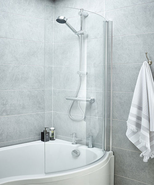 Additional image of Lauren 850-870 x 1435mm Curved Screen For B-Bath
