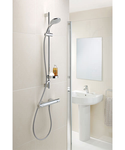 ideal standard ceratherm 200 shower valve with wall fixings. Black Bedroom Furniture Sets. Home Design Ideas