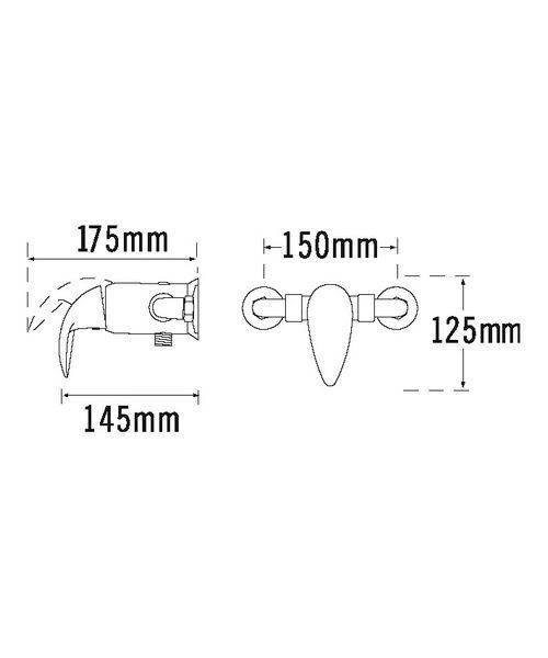 Additional image of Tre Mercati Novara Exposed Concealed Manual Shower Valve Chrome