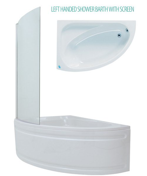 Additional image of Phoenix Duo Right Hand Bath 1500 x 1000mm With Panel And Screen