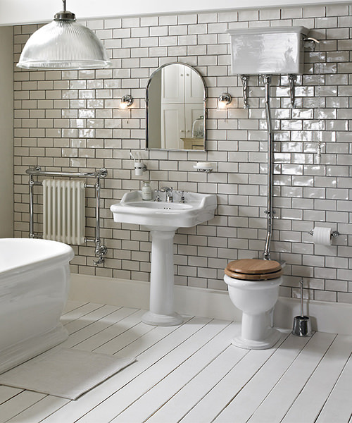 Additional image of Heritage Victoria High Level WC And Cistern With Flush Pack