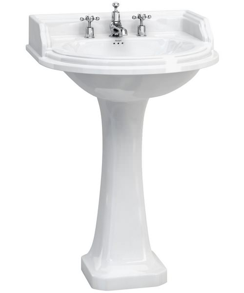 Additional image of Burlington Classic Round 650mm Basin And Full Pedestal