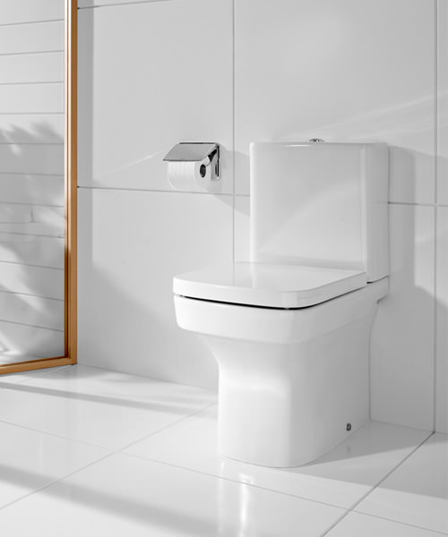 Roca dama n back to wall close coupled eco wc pan with cistern for Cisterna roca dama