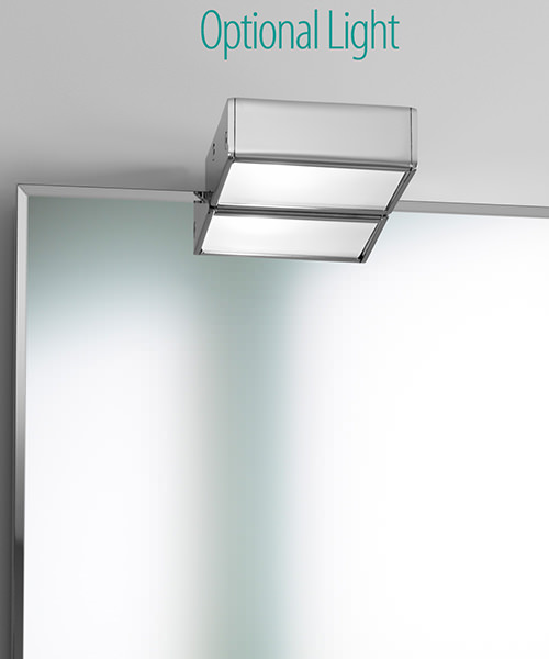 Additional image of Roca Victoria-N 600 x 700mm Mirror - Gloss White