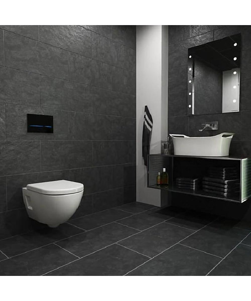 Geberit Sigma80 Touchless Mains Operated Dual Flush Plate Glass