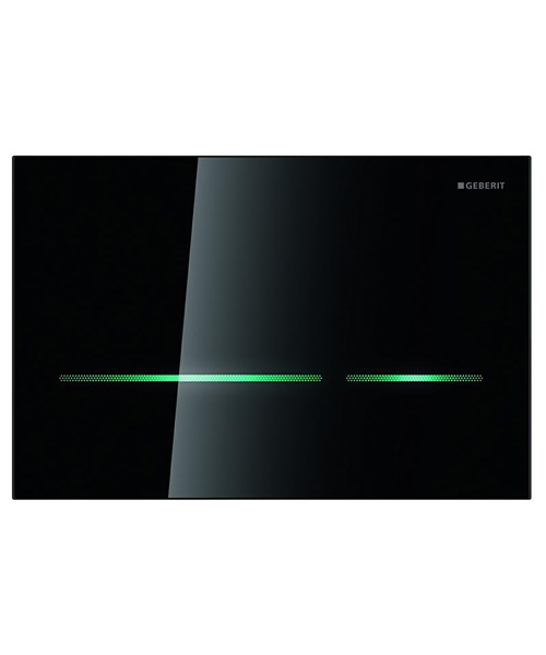 Alternate image of Geberit Sigma80 Dual Flush Plate Touchless For 12cm UP320-Black Glass