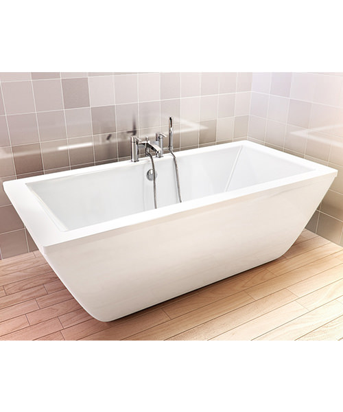 Additional image of Cleargreen Freefortis 1800 x 800mm Double Ended Freestanding Bath - R35