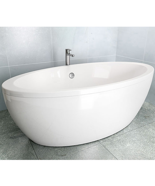 Additional image of Cleargreen Freestark 1740 x 870mm Double Ended Freestanding Bath - R31