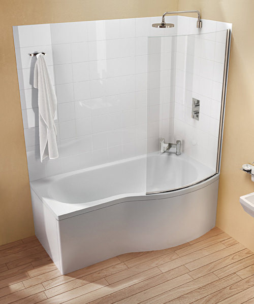 Additional image of Cleargreen Ecoround Shower Bath 1700mm x 800mm Right Handed