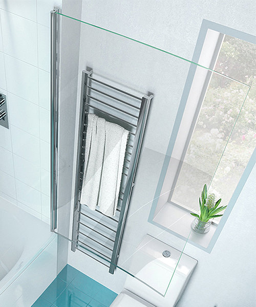 Additional image of Cleargreen Ecocurve 850 x 1450mm Bathscreen