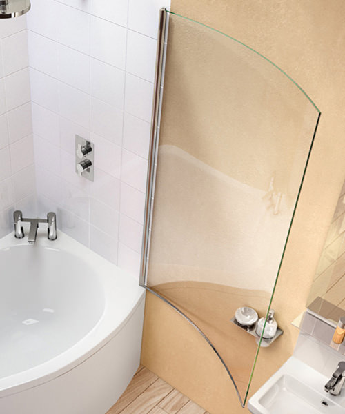 Additional image of Cleargreen Ecoround 820 x 1450mm Bathscreen - BS7