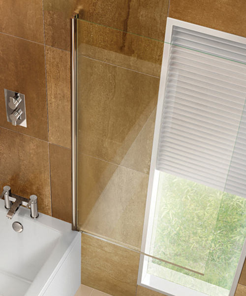 Additional image of Cleargreen 850 x 1450mm Pivot Bathscreen - BS1