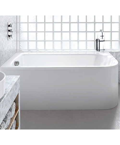 Additional image of Cleargreen Viride Offset 170cm x 75cm Single Ended Bath Left Hand