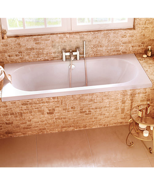 Additional image of Cleargreen Verde 1700 x 750mm Double Ended Rectangular Bath