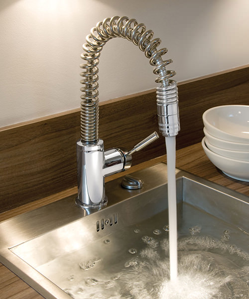 Additional image of Vado Eli Deck Mounted Kitchen Mono Sink Mixer Tap With Swivel Spout