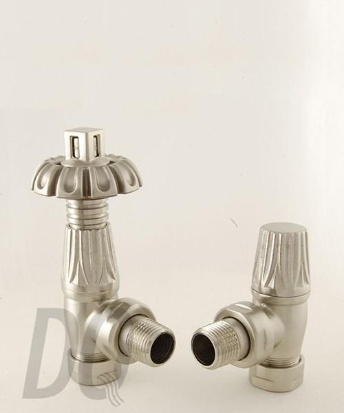 Alternate image of DQ Heating Morgan TRV Angled Thermostatic Antique Brass Radiator Valves