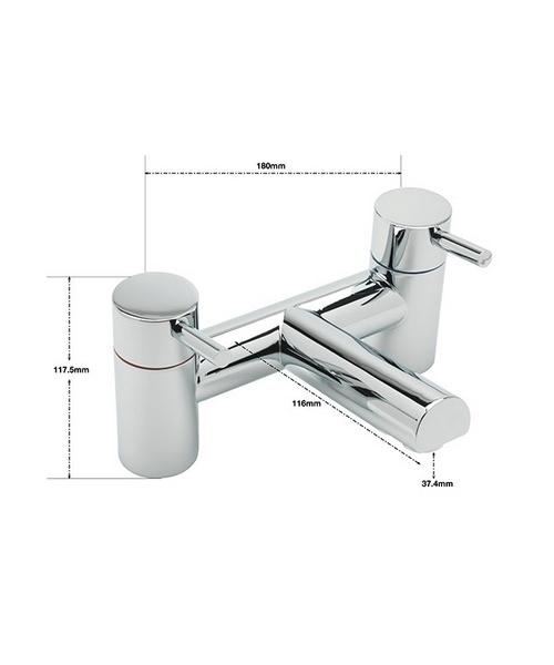 Alternate image of Sagittarius Piazza Deck Mounted Bath Shower Mixer Tap And Kit