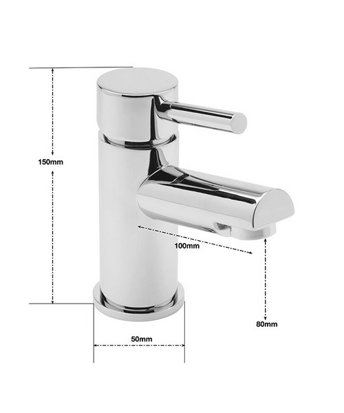 Alternate image of Sagittarius Piazza Cloakroom Monobloc Basin Mixer Tap With Sprung Waste