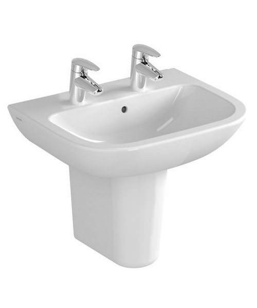 Additional image of VitrA S20 1TH 55cm Washbasin With Half Pedestal