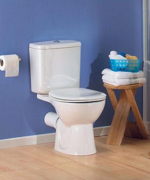 Additional image of VitrA Layton 670mm Close Coupled WC Pan