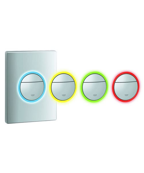 Additional image of Grohe Nova Cosmopolitan Chrome WC Wall Plate With LED Light