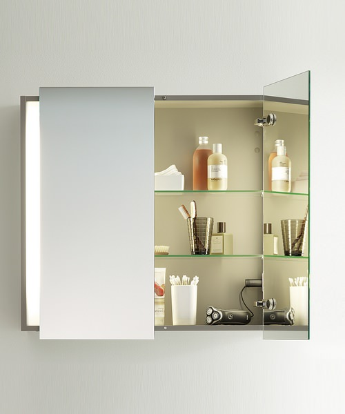Additional image of Duravit Ketho 750mm High Double Door Mirror Cabinet