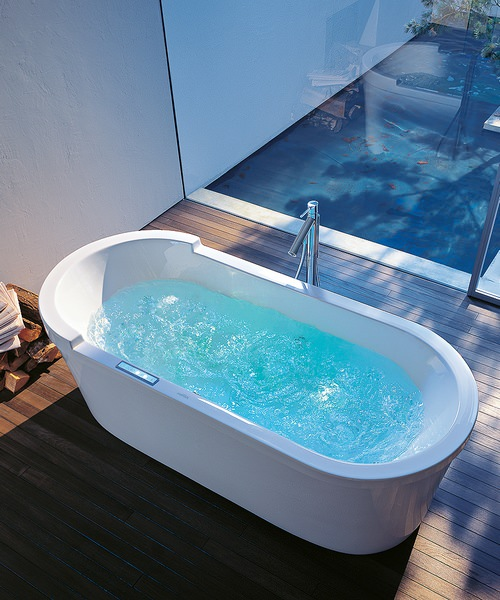Additional image of Duravit Starck 1800 x 800mm Oval Double Ended Freestanding Bath