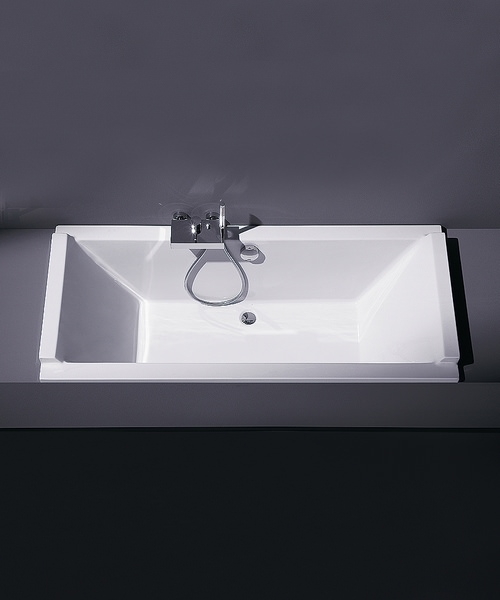 Additional image of Duravit Starck 1800 x 800mm Rectangular Double Ended Built-In Bath