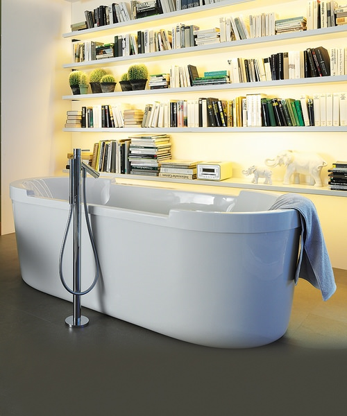 Alternate image of Duravit Starck Oval Freestanding Bath With Panel And Support Frame