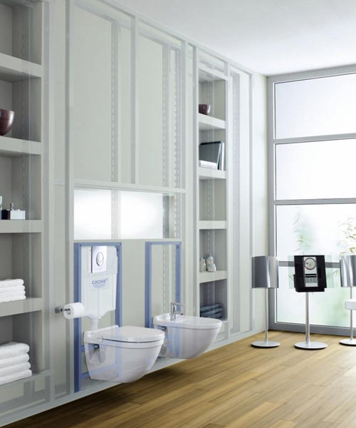 Additional image of Grohe Rapid SL 1.13m High Wall Hung WC Frame And Cistern