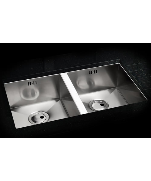 Additional image of Abode Matrix R0 2.0 Square Bowl Stainless Steel Undermount Kitchen Sink