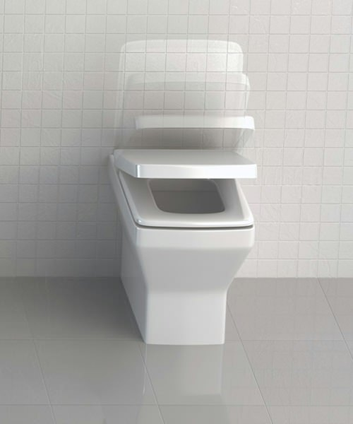 Additional image of Britton Cube S20 Back To Wall Pan With Soft Close Seat
