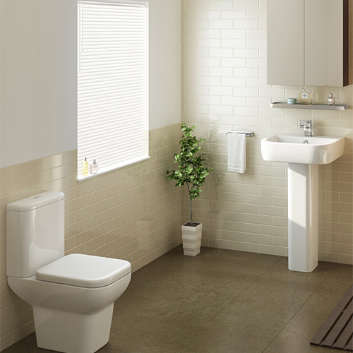 Additional image of Pura Urban Close Coupled WC Pan With Cistern And Soft Close Seat 620mm