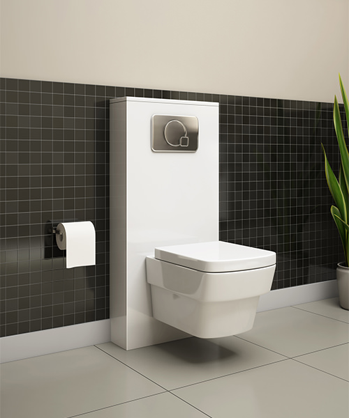 Additional image of Pura Bloque Wall Hung WC Pan And Soft Close Seat 500mm