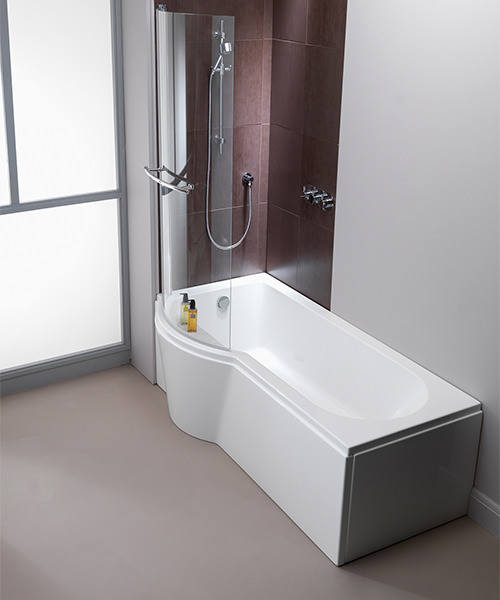 Additional image of Pura Arco 800 x 1500mm Left/Right Hand Hinged Shower Bath Screen