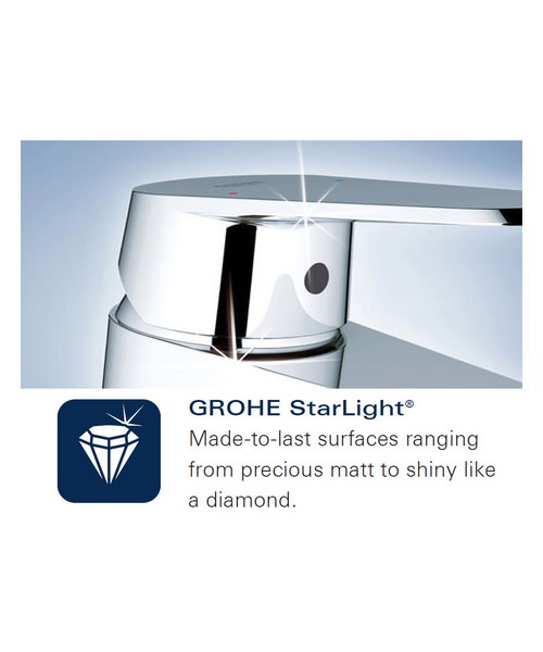 Additional image of Grohe Quadra Single Lever Bath Shower Mixer Valve Trim And Diverter