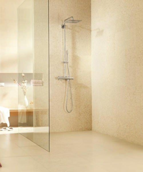 grohe spa rainshower f series thermostatic shower system with kit. Black Bedroom Furniture Sets. Home Design Ideas