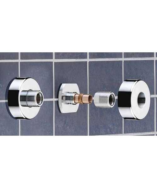 Additional image of Bristan Artisan Thermostatic Bar Shower Valve With Riser Kit