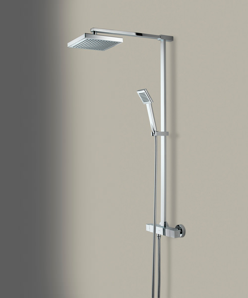 Additional image of Bristan Quadrato Thermostatic Surface Mounted Shower Valve With Diverter