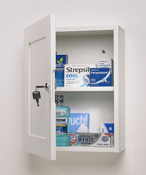 Alternate image of Roper Rhodes Medicab White 334mm Lockable Medicine Storage