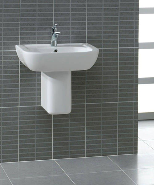 Additional image of Essential Fuchsia 450mm Basin With 1 Tap Hole