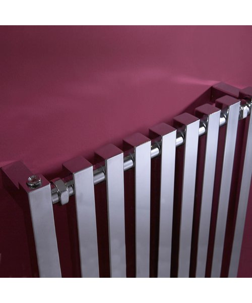 Additional image of Phoenix Ava Designer Radiator 600 x 800mm Chrome