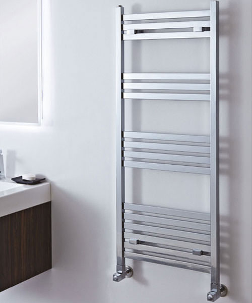 Additional image of Phoenix Davina Chrome 500 x 800mm Designer Towel Rail
