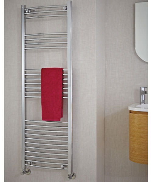 Additional image of Phoenix Gina Curved Designer Towel Rail 500mm x 800mm