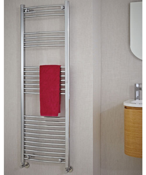 Additional image of Phoenix Gina Curved Designer Towel Rail 600mm x 1200mm