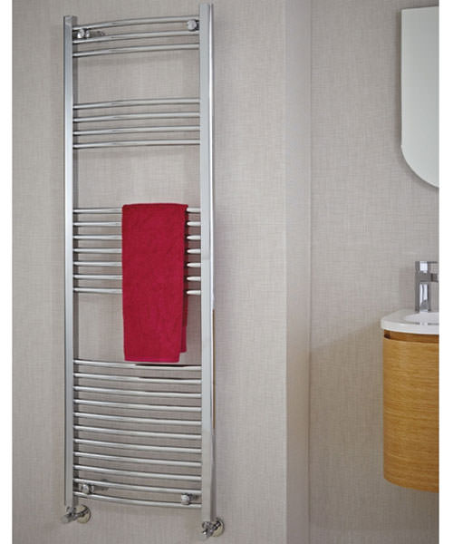 Additional image of Phoenix Gina Curved Designer Towel Rail 600mm x 1800mm