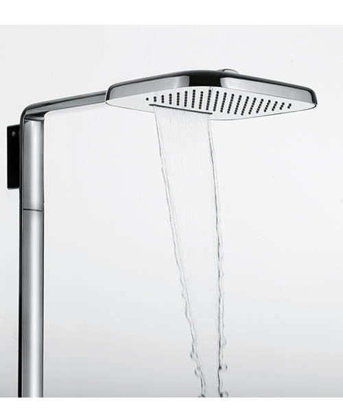 Additional image of Flova Urban Thermostatic Shower Set With Rainshower/Waterfall Overhead