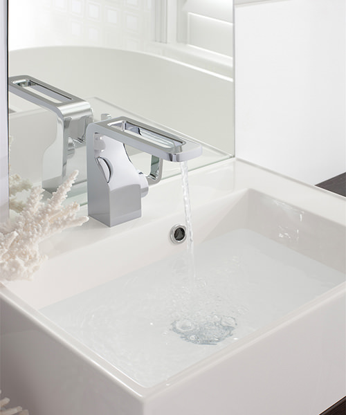 Additional image of Crosswater Kelly Hoppen Zero 1 Monobloc Basin Mixer Tap