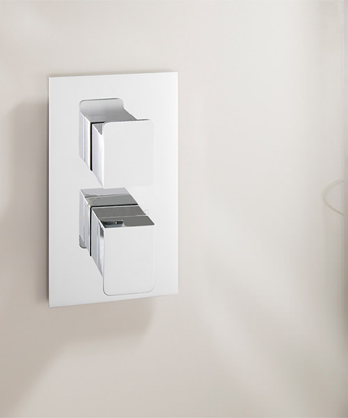 Additional image of Crosswater Kelly Hoppen Zero 3 Recessed Thermostatic Shower Valve