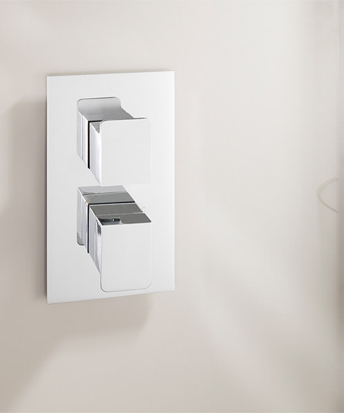 Additional image of Crosswater KH Zero 3 Thermostatic Portrait Shower Valve With 2 Way Diverter